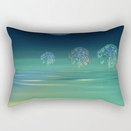 fancy trees and turquoise moonlight Rectangular Pillow