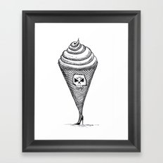 Temptation ice cream Framed Art Print