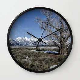 Grand Tetons from Gros Ventre Wall Clock