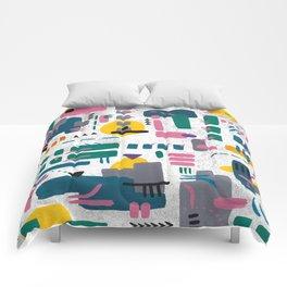 Abstract gouache Comforters