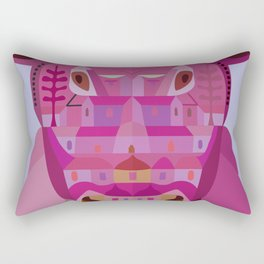 A Cow in Los Angeles Rectangular Pillow