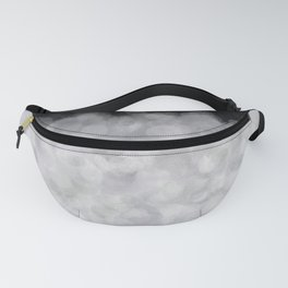 Snow Clouds in the Dark - Abstract Fanny Pack