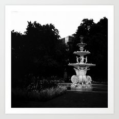 City Fountain Art Print