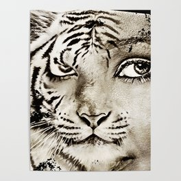 Tiger or woman Poster