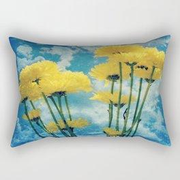 Textured Yellow Carnation Photography Rectangular Pillow