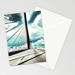 Sunshine Skyway Bridge in saturated  neutrals - St. Pete, FL - Florida photography  Stationery Cards