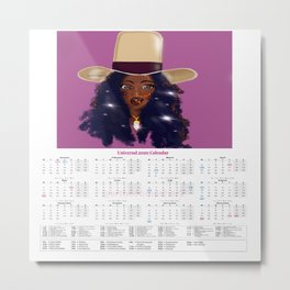 2020 Calendar (Universal Multi-Faith/Holiday), Badu State of Mind Metal Print