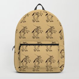 Ancient Headless Horseman Mythical Mythology Color Pattern Backpack