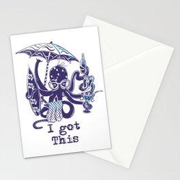 MultiTasker Beach Loving Octopus Stationery Cards