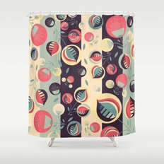 50's floral pattern II Shower Curtain