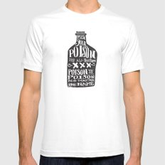 PICK YOUR POISON - REVERSE Mens Fitted Tee LARGE White