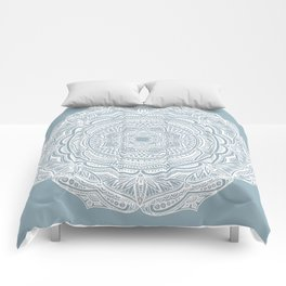 Dedication to Lucy (gray-blue) Comforters
