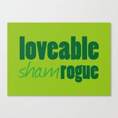 Loveable Shamrogue Canvas Print