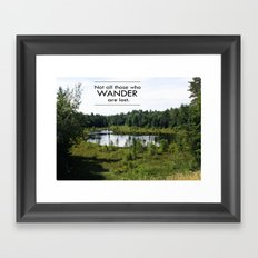 Not All Those Who Wander Are Lost Inspirational Quote Color Photo Framed Art Print