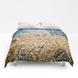 Hay Bales in Snowdonia Comforters