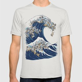 The Great Wave Of  Cat T-shirt