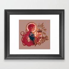 Enby royalty - Quing Framed Art Print