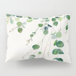 Eucalyptus Watercolor Pillow Sham