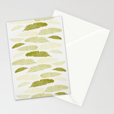 Feathers - Sage Stationery Cards