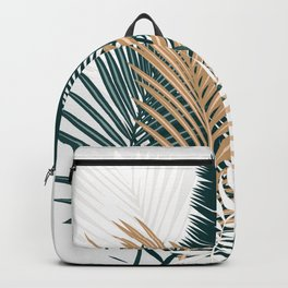 Gold and Green Palm Leaves Backpack