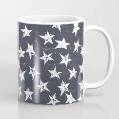 Linocut Stars - Navy & White Mug