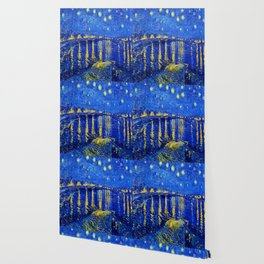 Starry Night Over Rhone Wallpaper