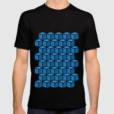 Blue Boxes Mens Fitted Tee MEDIUM Black