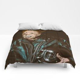 Einstein Rocks Comforters