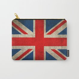 Old and Worn Distressed Vintage Union Jack Flag Carry-All Pouch