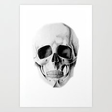 le crâne Art Print