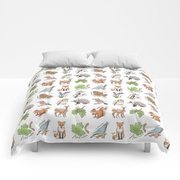 British Woodland Wildlife Comforters