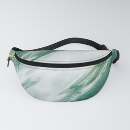 Emerald Jade Green Gold Accented Painted Marble Fanny Pack