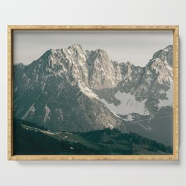 Mountain Peaks in Summer | Landscape Photography Alps | Print Art Serving Tray