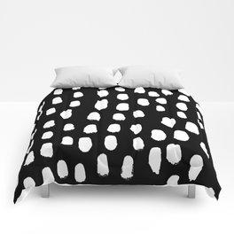 Spots black and white minimal dots pattern basic nursery home decor patterns Comforters