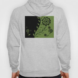 Greenery Floral Abstract Hoody