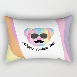 Punk Rainbow Bondage Bear 2.0 Rectangular Pillow