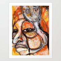 fierce Art Prints featuring Fierce by Michele Martin