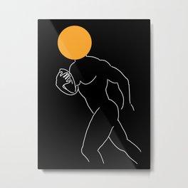 GIVE ME THE BALL Figure Drawing Metal Print