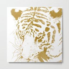 Golden tiger Metal Print