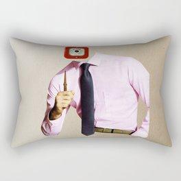 Business Man Alarm Rectangular Pillow
