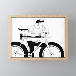 Bike polo Framed Mini Art Print