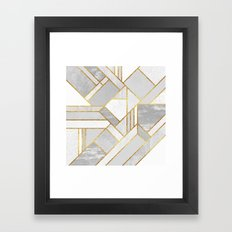 Gold City Framed Art Print