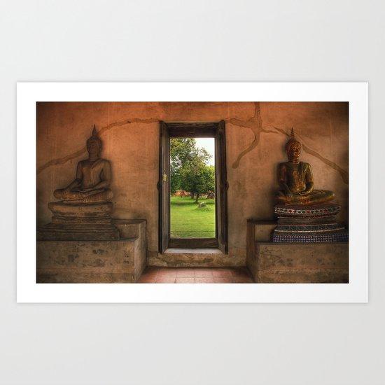 Buddha - Ayutthaya - Thailand Art Print