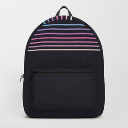 Pink Colored Retro Stripes Backpack