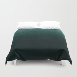 Ombre Emerald Duvet Cover