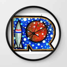 R is for Rock Wall Clock