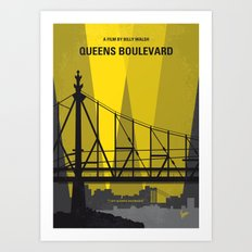 No776 My Queens Boulevard minimal movie poster Art Print