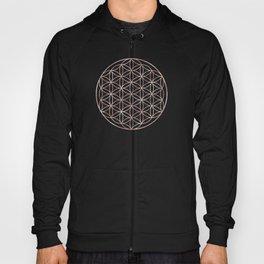Mandala Flower of Life Rose Gold Space Stars Hoody
