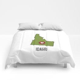 Idaho State Heart Comforters
