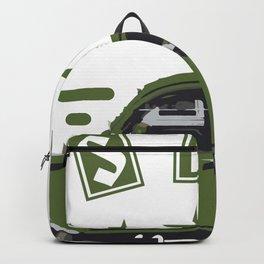 Green Classic Car (Classic Life) Backpack